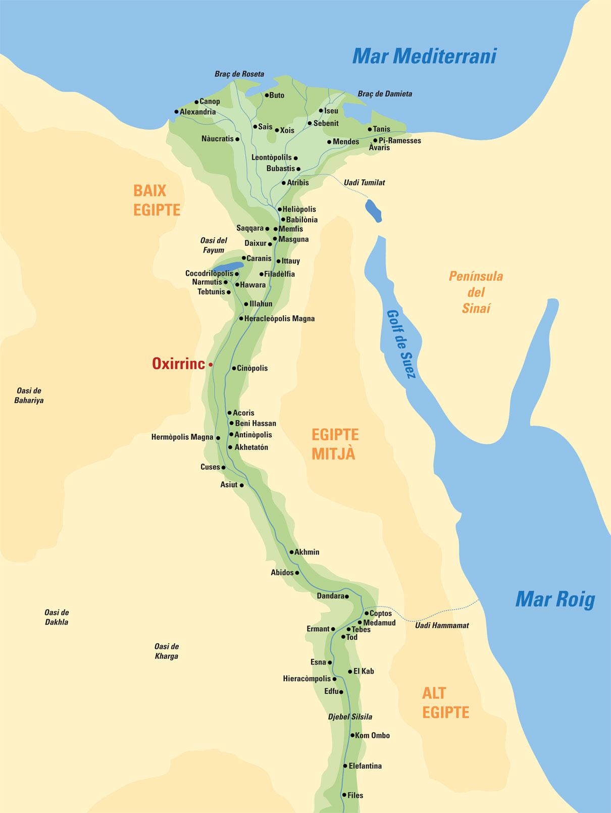 Mapa d'Egipte
