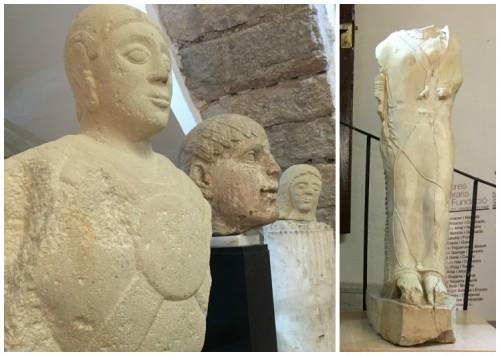 Estàtues d'un guerrer i d'una figura femenina ibèriques