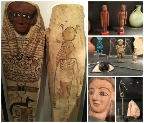 Un taüt i diverses peces de l'antic Egipte de la col·lecció de la FPCAI