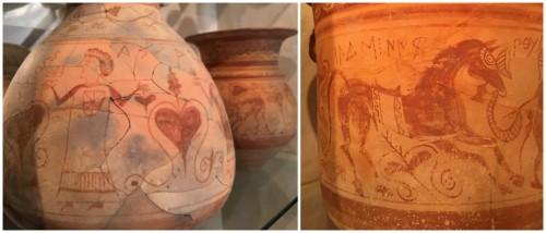 Ceràmica ibèrica amb motius decoratius